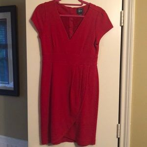 Maeve for Anthropologie red knit dress